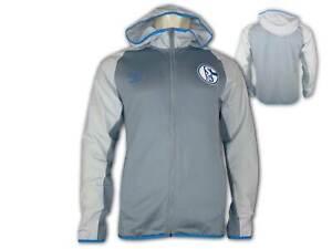 Umbro-FC-Schalke-04-Kapuzenjacke-hellgrau-S04-Hoodie-Fan-Jacke-Gr-S-XXL