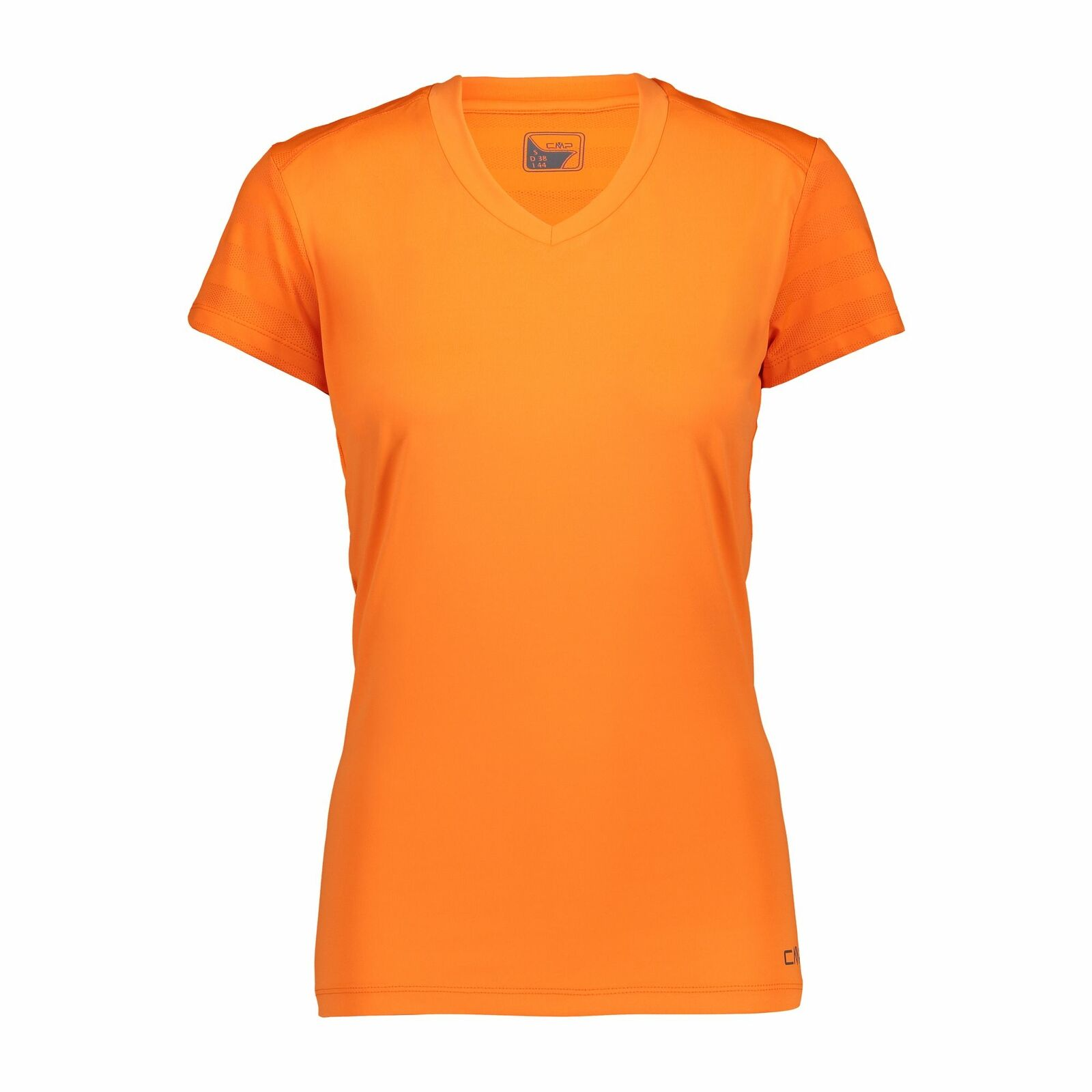 CMP Kleid Shirt Frau T-Shirt Orange Atembare Elastische Ebene Farbe