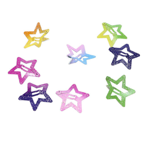 12Pcs//set Star Butterfly Hair Clips Snaps For Girl Kids Head Accessories Gift