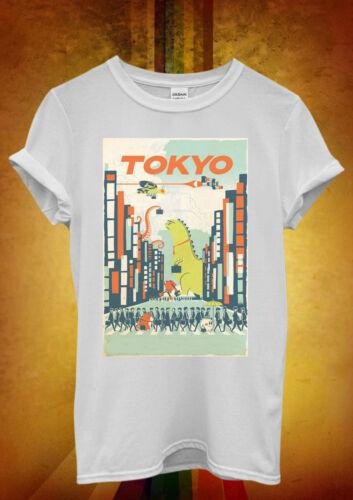 Tokyo City Cartoon Hipster Cool Funny Men Women Unisex T Shirt Tank Top Vest 431