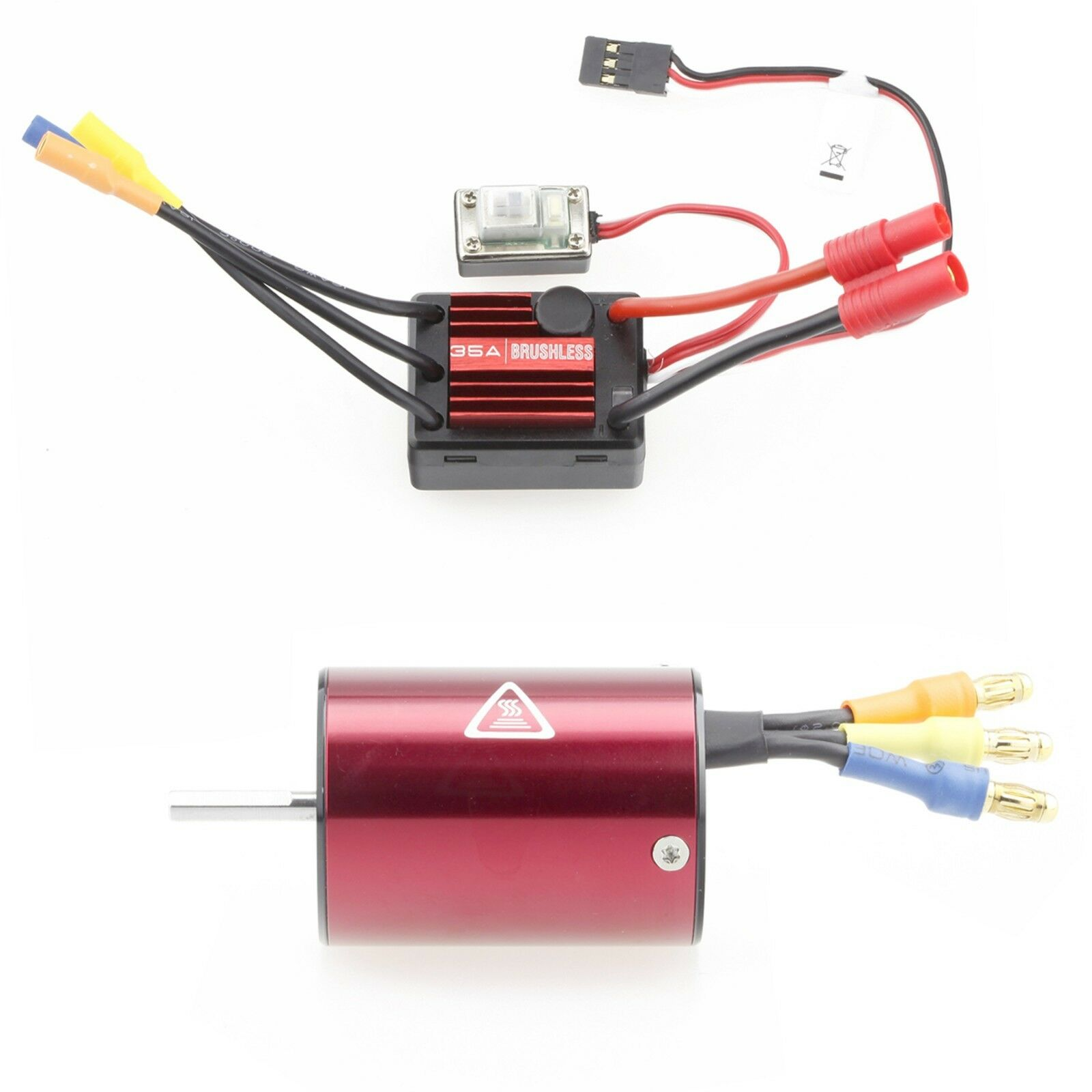 LC Racing 35A Waterproof ESC & 4500KV Motor Brushless Combo L6148&L6048 for 1 16