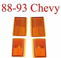 88 89 90 91 92 93 Chevy Truck 4pc Amber Side Light Kit