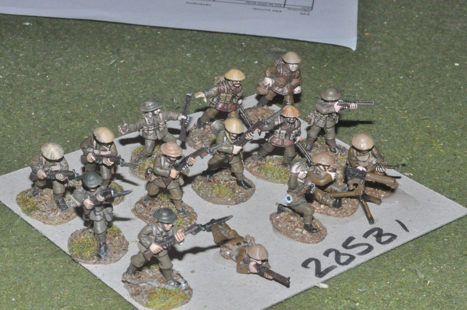 25mm WW1   british - section 15 figures - inf (28581)