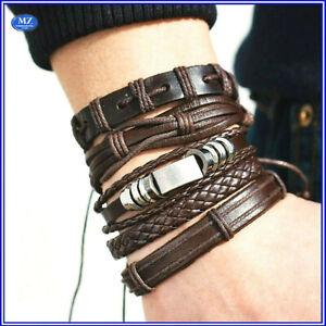 bracciale-uomo-pelle-in-cuoio-con-corda-bracciali-braccialetto-set-acciaio-da