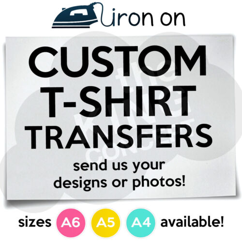 Custom Iron On T-Shirt Transfers A6 A5 or A4 Your Images Photos Designs Hen Stag