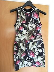 10 Mini Stretch Party Casual Floral Topshop 8 Black Ladies Size Bodycon Dress wP8qvzaI