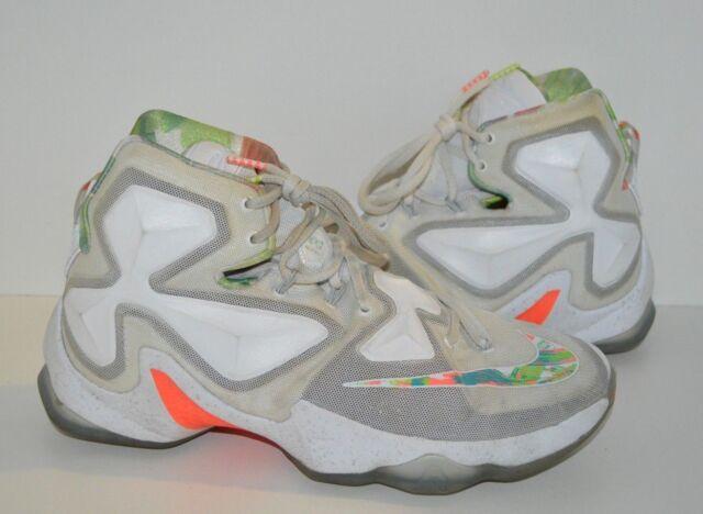 8ee821a089b Nike Lebron XIII 13 Easter White Mango Green Xmas 807219 108 LBJ Men 10.5  Lakers