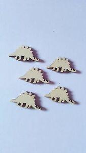 10 X Mini Vide En Bois Craft Formes - 30mm-dinosaure-afficher Le Titre D'origine Pour Convenir à La Commodité Des Gens