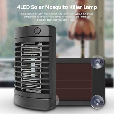 4LED Solar Mosquito Killer Lamp Socket  Electric Insect Zapper Fly Trap Lights W