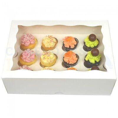 12 Premium Mini Cupcake Box + Divisore Più Economico Su Ebay Scegli Il Tuo Colore & Qty- Materiali Accuratamente Selezionati