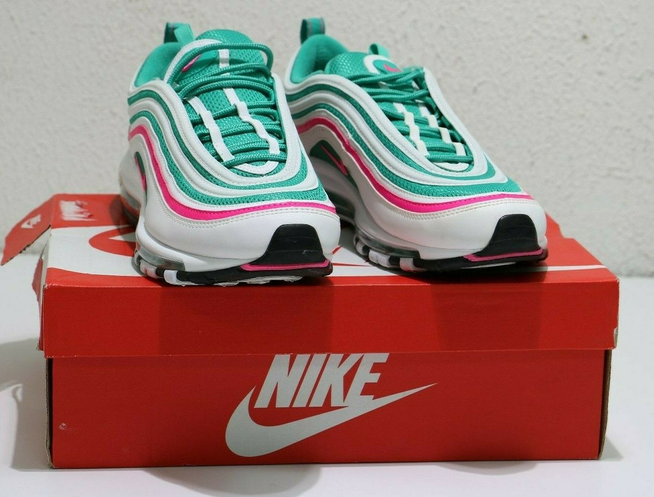 Authentic Nike Air Max 97 South Beach Miami Easter 921826-102 US Size 10.5 Mens