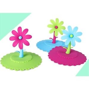 Art-Design-Colorful-Flower-Silicone-Dustproof-Cup-Lid-Leakproof-Cup-Cover