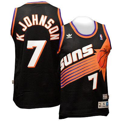 Kevin Johnson Phoenix Suns Black Throwback Swingman Jersey L