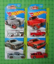 2015 Hot Wheels - Then and Now - '52 Chevy & Chevy Silverado - Lot of 4 -w/Zamac
