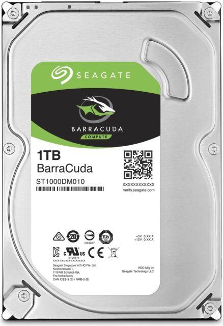 """Hard Disk Interno Seagate ST1000DM010 HDD da 1 TB, 64 MB Sata III da 3.5"""" 7200"""
