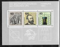 Briefmarken BRD Block Weltkongress Hamburg 1984