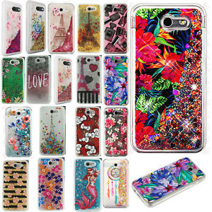 uk availability 7c8a2 5f7df Details about For Samsung Galaxy J3 Luna Pro Liquid Glitter Quicksand Hard  Case Phone Cover