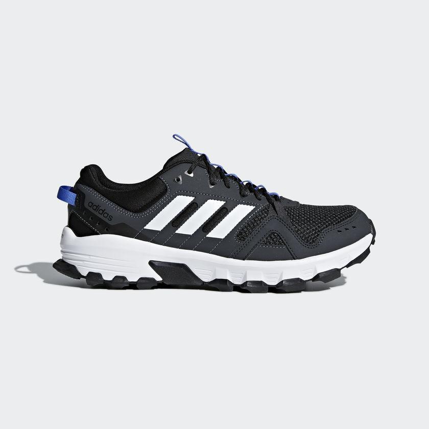 Adidas Blue Rockadia M Trail Runner Shoes - Carbon/White/Hi-Res Blue Adidas - Mens - 9.5 aa760d