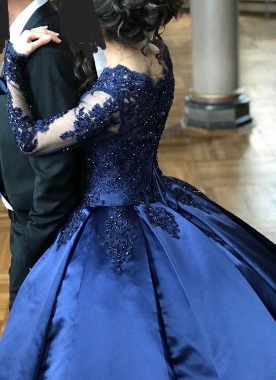Abendkleid, Verlobungskleid 34 36, gebraucht, Blau