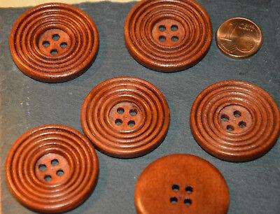 Hübsche Eyecatcher Holz Knopf Knöpfe 2,3cm 5 Stück NEU