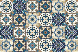 Tappeto-Passatoia-Vinile-Per-Arredare-Cucina-E-Bagno-Con-Maioliche-Azulejos-Blu