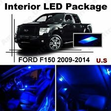 Blue LED Lights Interior Package Kit for Ford F150 2009-2014 ( 9 Pieces )