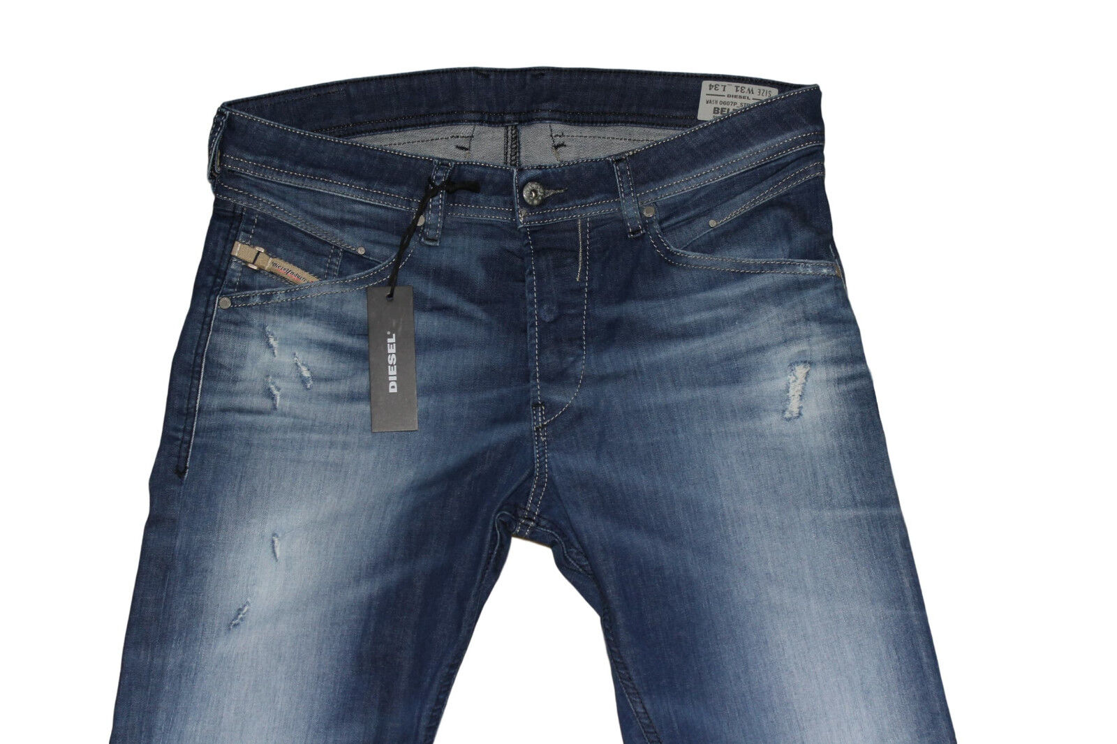 DIESEL BELTHER 0607P SLIM TAPERED JEANS W31 L34 100% AUTHENTIC