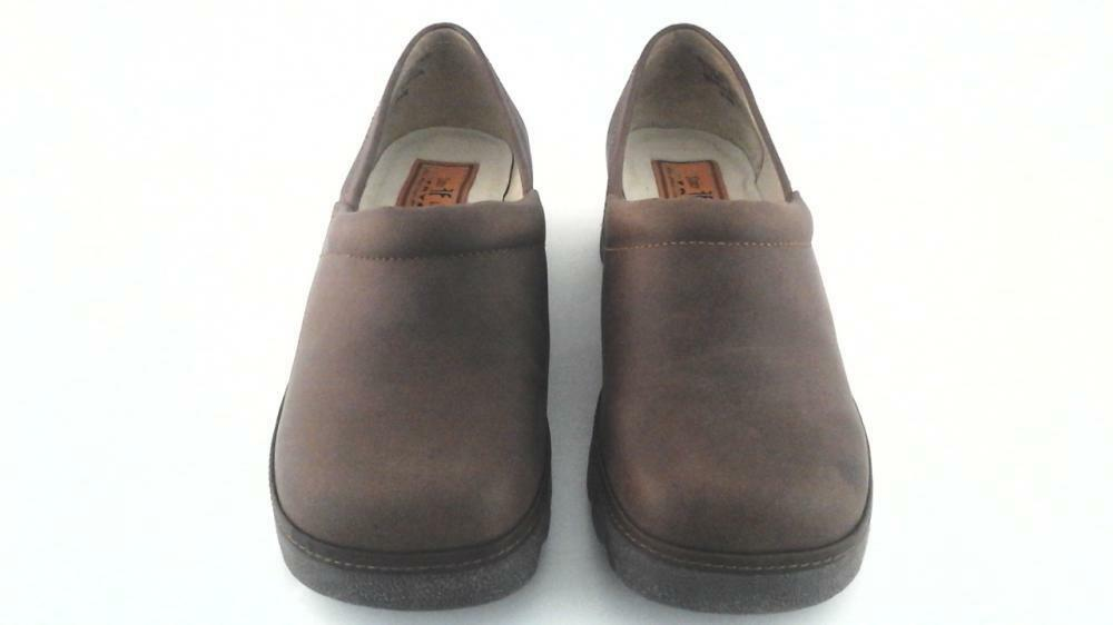 FRYE SCOUT Clogs Schuhes Loafers Braun Slip On Casual Damenschuhe 8.5 US 8.5 Damenschuhe EU 39 195 d039ac