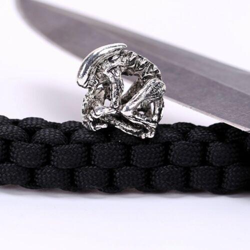 Paracord Beads Lanyard Alien couteau crâne Predator Métal Main Unique Bracelet