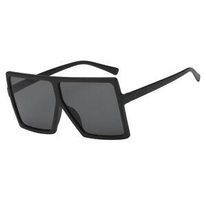 fa2f8801eff1 Image is loading Women-Vintage-Rectangle-Sunglasses-Oversize-Black-Vintage- Eyeglasses