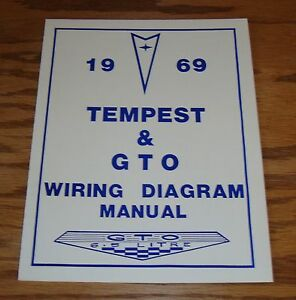 1969 Pontiac Tempest & GTO Wiring Diagram Manual 69 | eBay