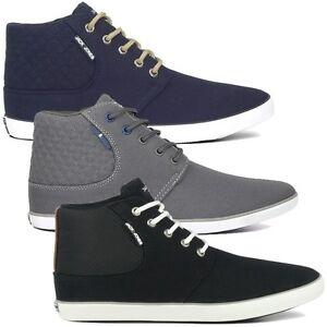 Jack-amp-Jones-VERTU-Sneaker-Hi-Trainer-41-42-43-44-45-schwarz-blau-grau-Schuhe