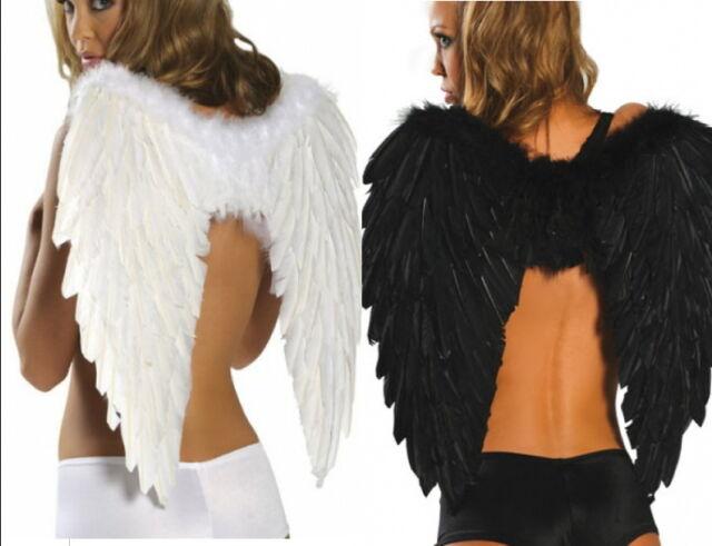 Engelsflügel Engel Flügel Schwarz & Weiss Kostüm Karneval Party Fasching Feier