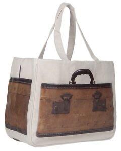 NWT-Vintage-Train-Case-Print-Together-Tote-Bag-Medium