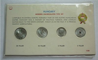 MINT UNC TYPE COIN SET CARD 5 w// SILVER MARKKA 1965 FINLAND