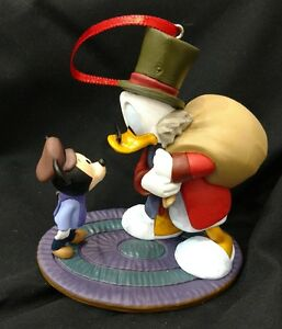 Disney Mickey's Christmas Carol Scrooge and Timmy Christmas Ornament