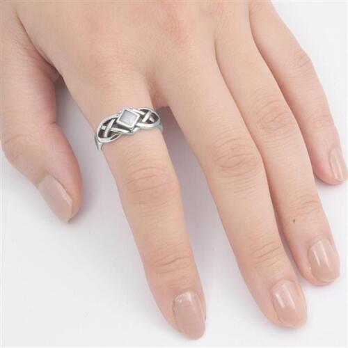 USA vendeur Celtic Knot Anneau Argent Sterling 925 BEST DEAL Pierre Bijoux Taille 10