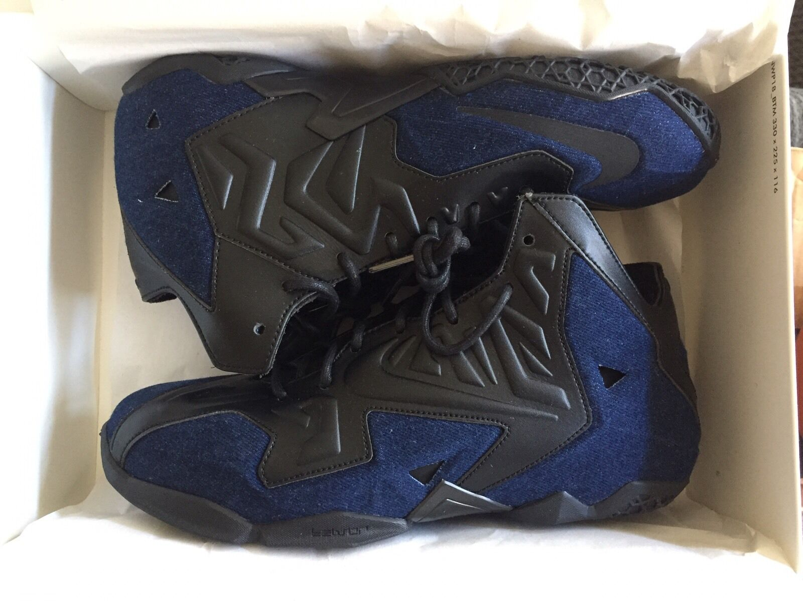 Nike Lebron 11 EXT Denim QS US9.5 Brand New DS On Sale 100% AUTHENTIC UPS Ground