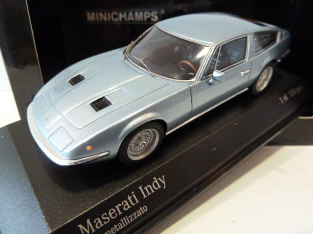 Extremely Rare Rare Rare Minichamps 1 43 Maserati Indy 1970 bluee Metallic 437123122 e3aec4