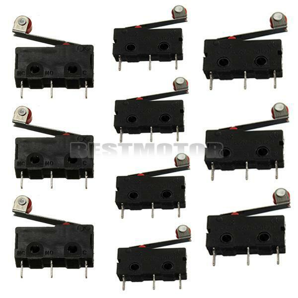 10pcs KW12-3 Micro Roller Lever Arm Normally Open Close Limit Switch New