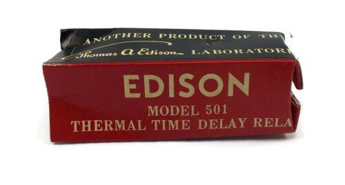 Edison Model 501 Time Delay Relay B-1560 3A 60sec 150VDC 250VAC 6.3V AB.AB5