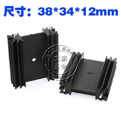 5PCS Aluminum Heatsink For TO-220 TO-247 Mosfet Transistor FET 34*12*38MM Black
