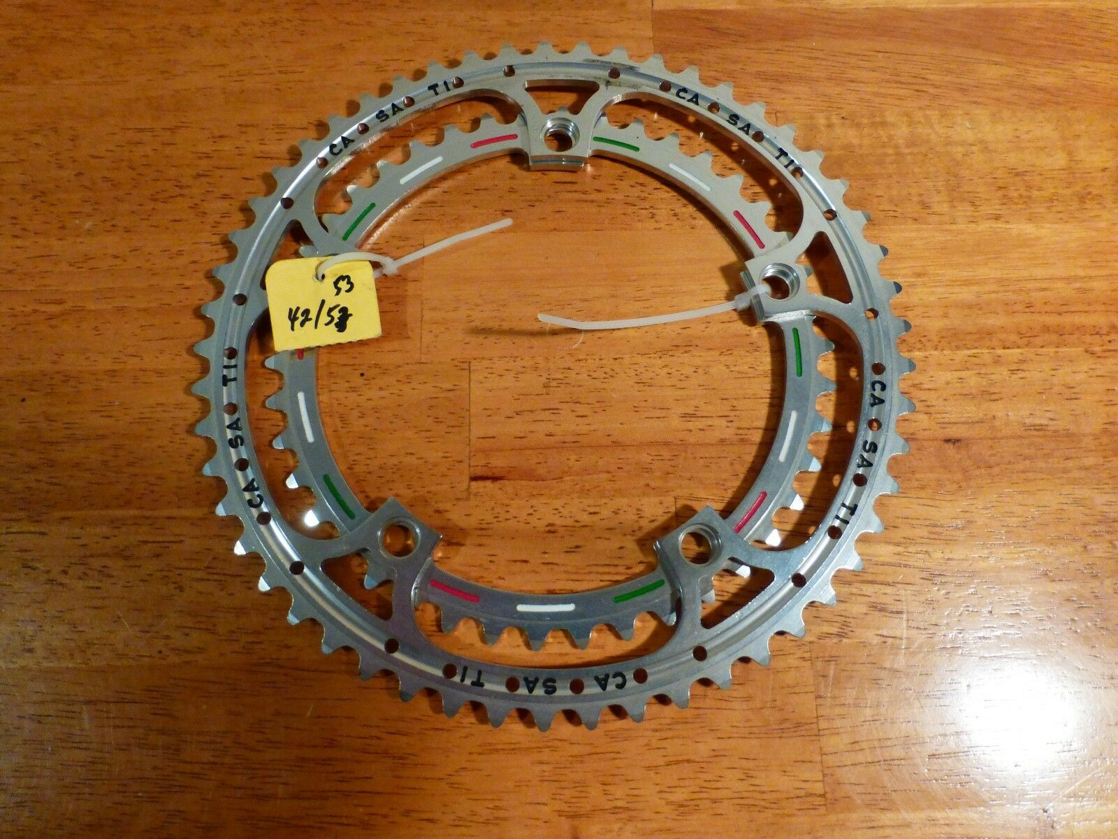 Vintage - NOS - Casati  Pantographed  42 x 53 - Chain Ring Set