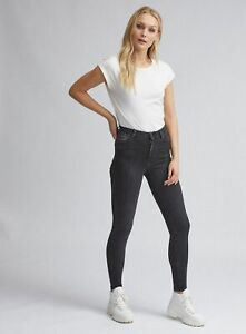 Dorothy-Perkins-Womens-Tall-Black-Alex-Authentic-Skinny-Jeans-Pants-Trousers