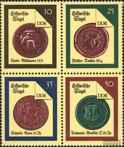 DDR-3156-3159-Viererblock-kompl-Ausg-FDC-1988-Historische-Siegel