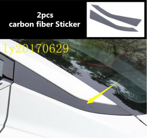 Carbon fiber sticker Rear window Side Triangle trim For Nissan Teana Altima 2019