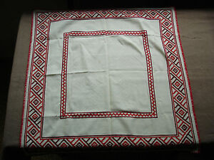 735-Beautiful-Vintage-Hand-Embroidered-Tablecloth-67cm-70cm-26-039-039-27-5-039-039