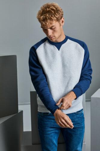 Russell Authentic Fashion Baseball Sweat Raglan Sleeves Sweater