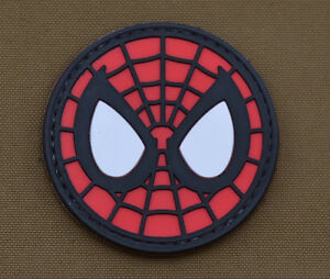 PVC-Rubber-Patch-034-Spiderman-034-with-VELCRO-brand-hook