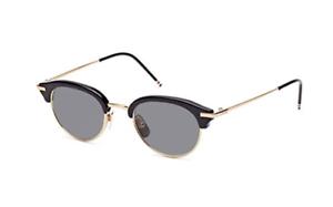c7e50a03e6e Authentic THOM BROWNE TB 706 A-T-BLK-GLD Sunglasses Gold Black  NEW ...